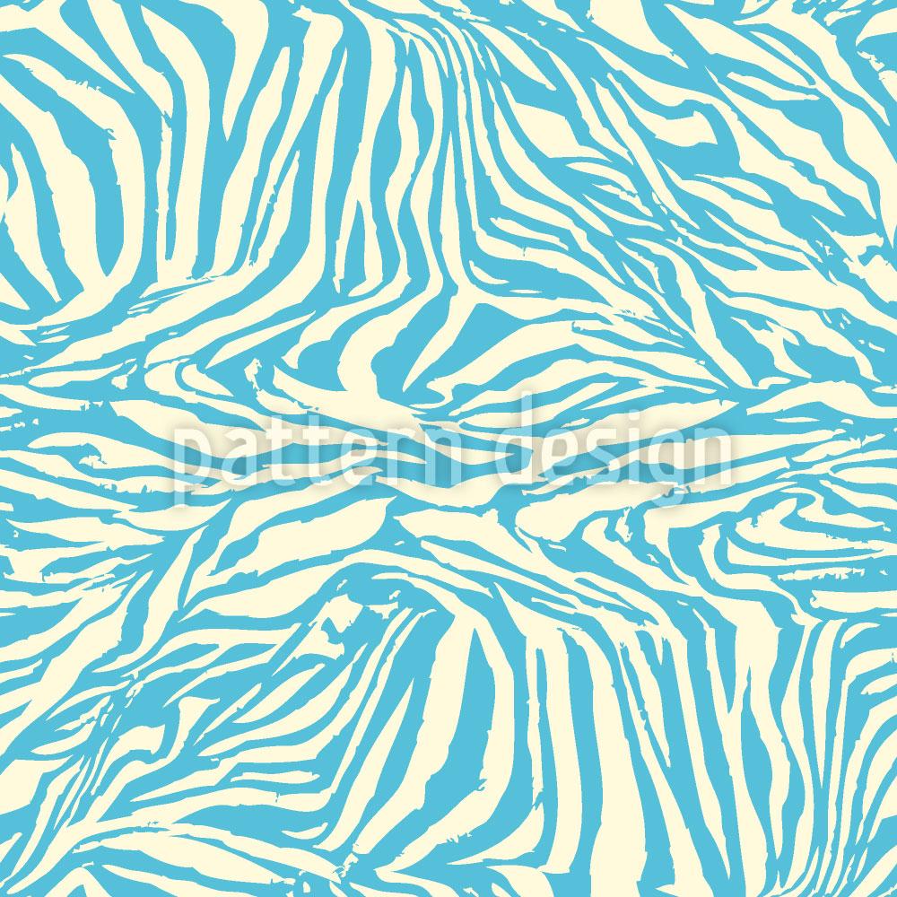 Designtapete Zebra Aqua