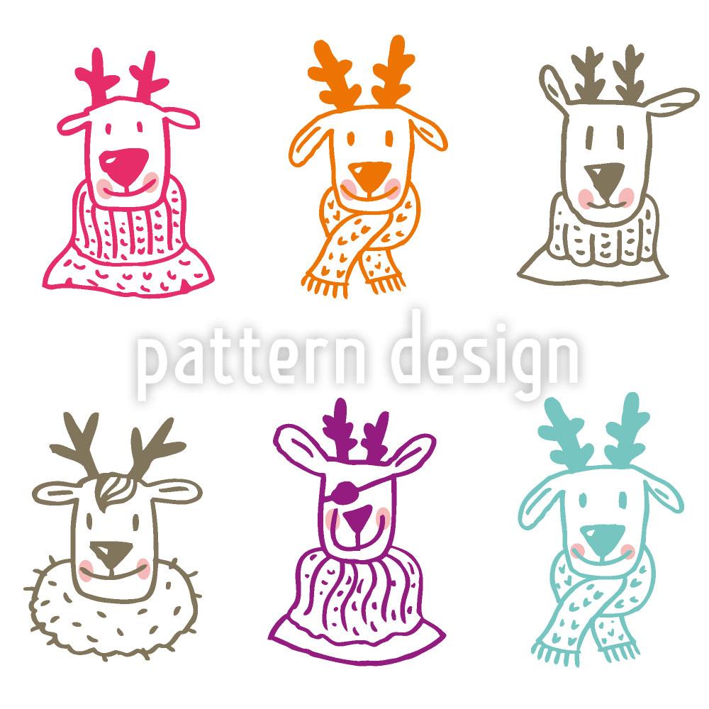 Designtapete Rudolf And Friends