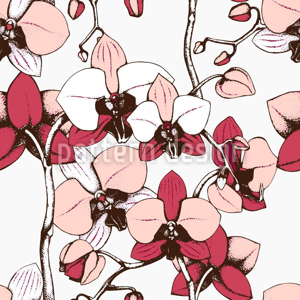 Designtapete Exotische Orchidee