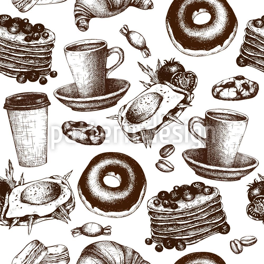 Designtapete Frühstückskarte