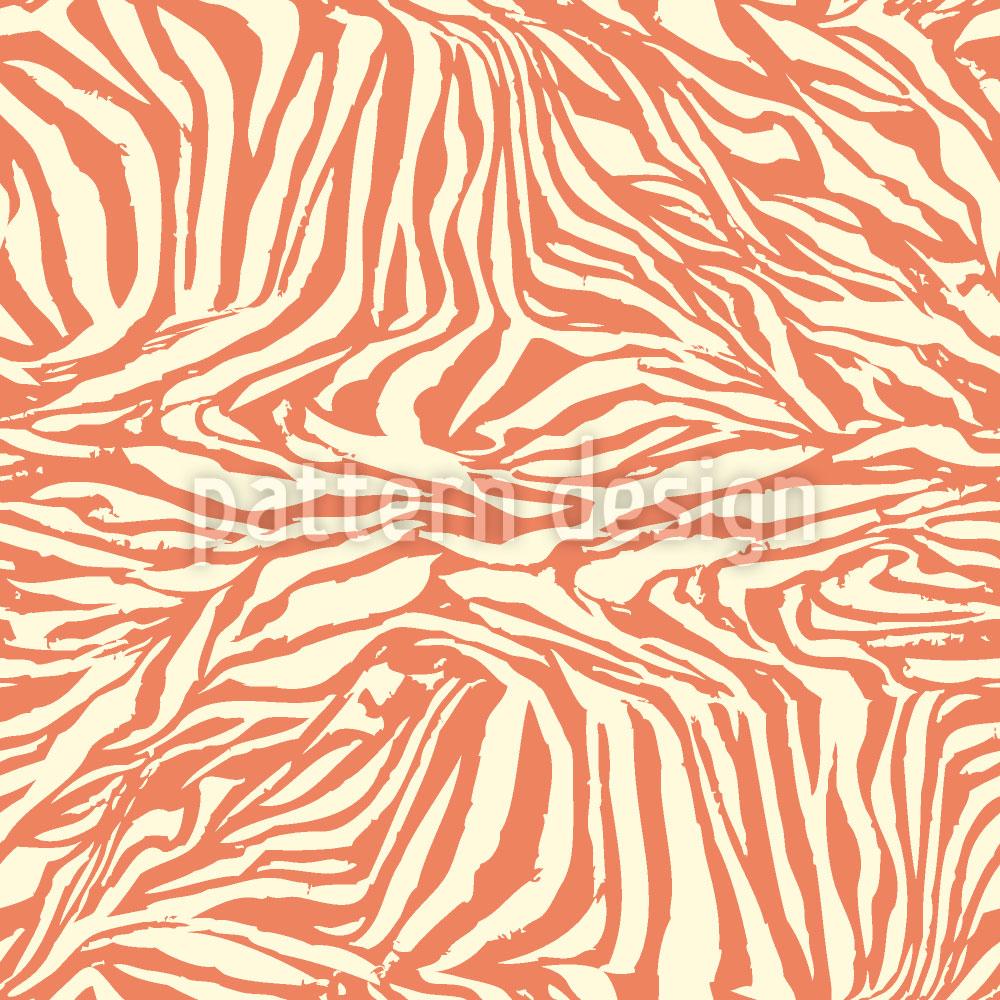 Designtapete Zebra Ethno