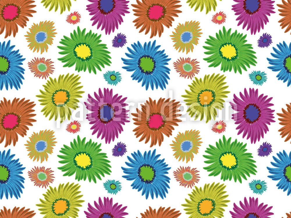 Designtapete Gänseblümchen Sommer