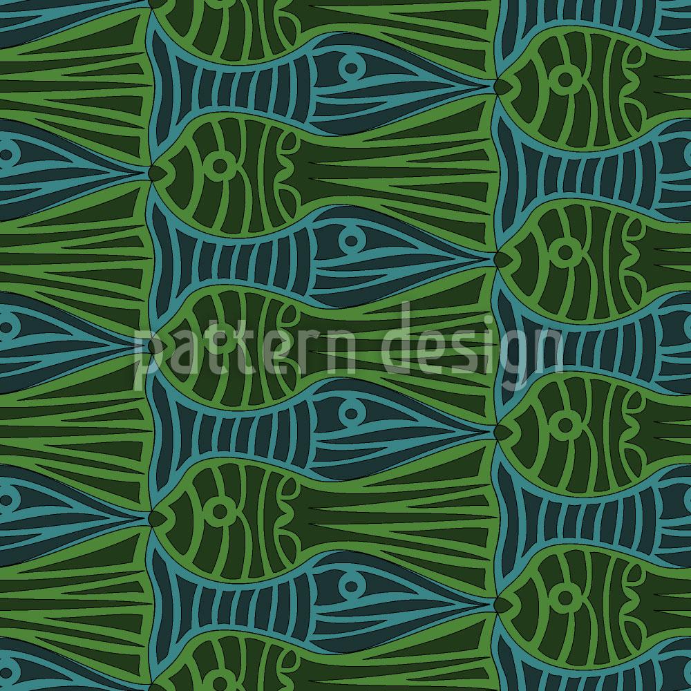 Designtapete Stau Im Aquarium