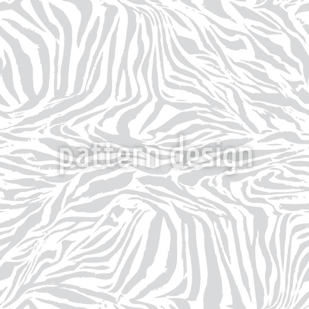 Designtapete Zebra Monochrom