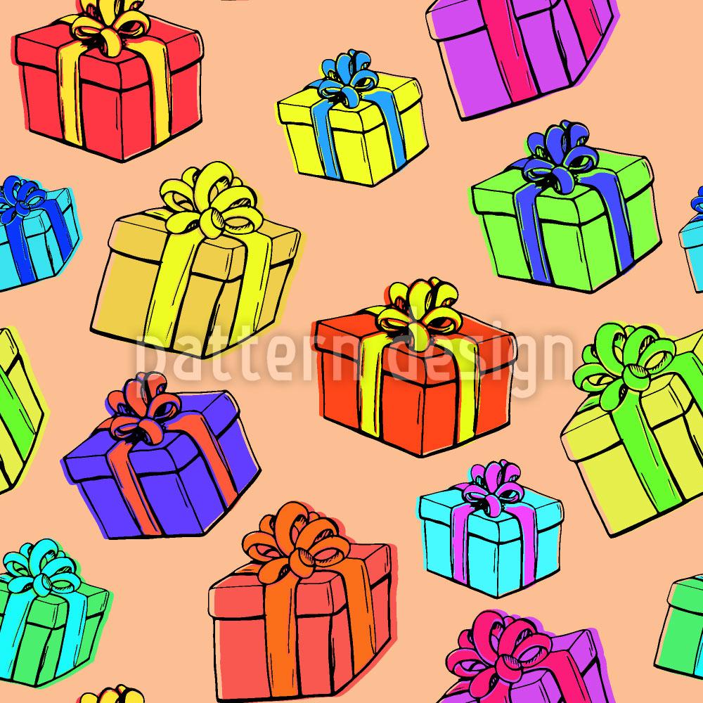 Designtapete Geschenkbox