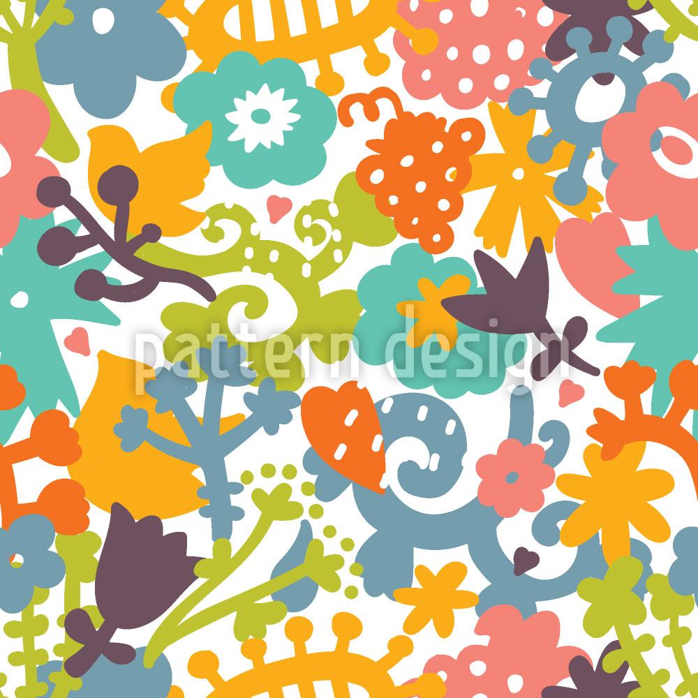 Designtapete Floraler Mikrokosmos