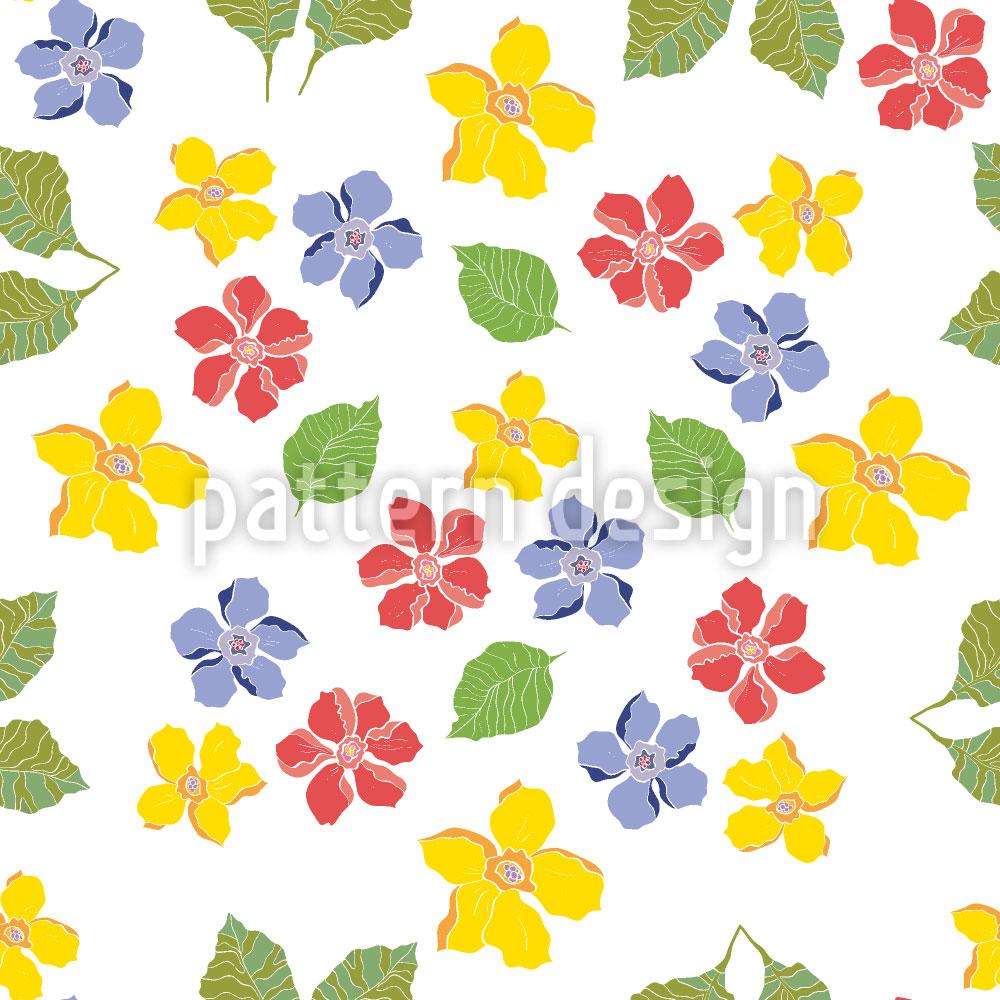 Designtapete Meine Landhaus Blumen