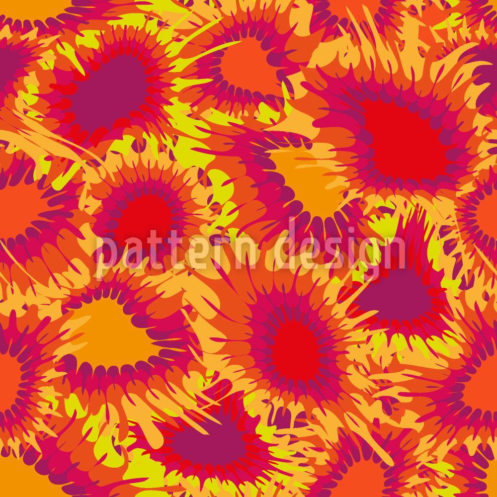 Designtapete Florale Supernovas