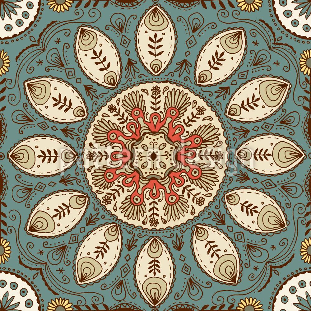 Designtapete Märchenhaftes Mandala