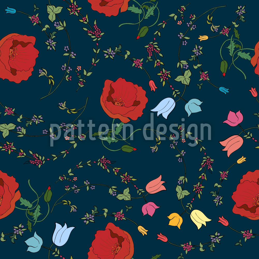 Designtapete Floraler Mix