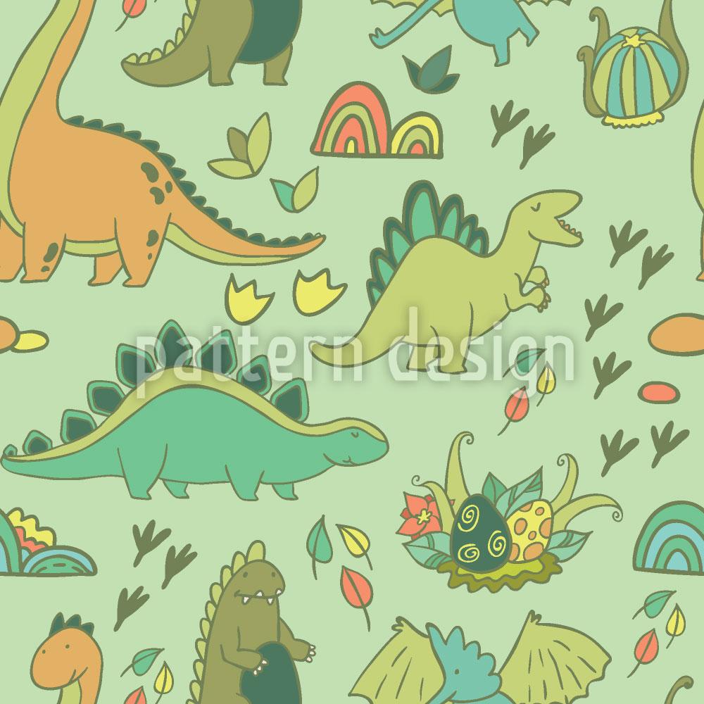 Designtapete Dino Welt