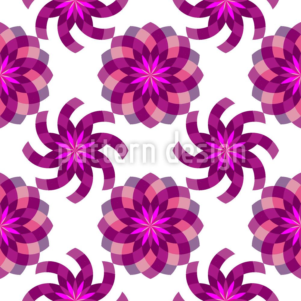 Designtapete Geometrischer Blumenzauber
