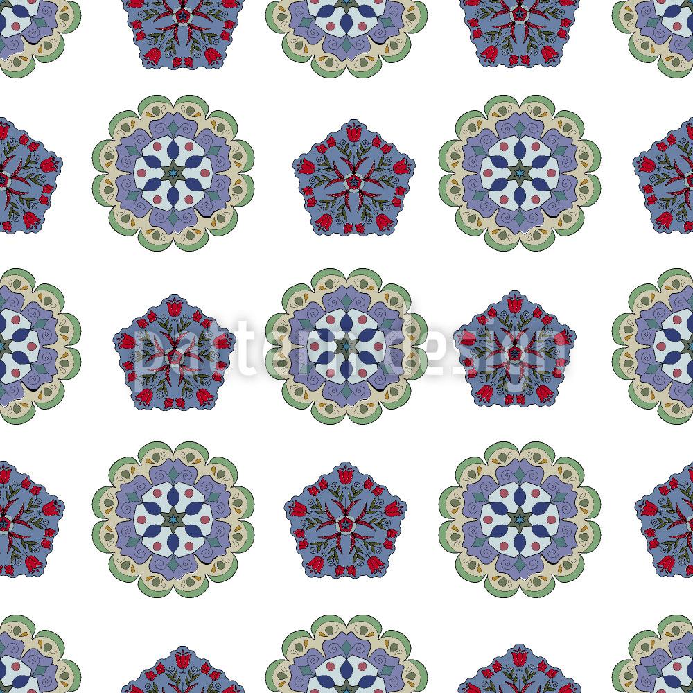 Designtapete Kristall Und Floral