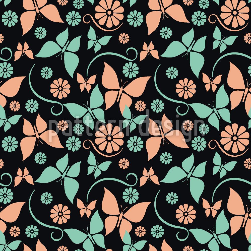 Designtapete Vintage Schmetterlinge