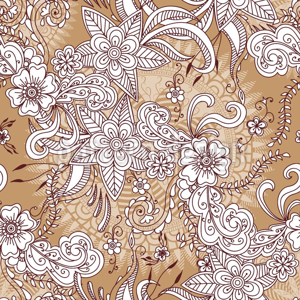 Designtapete Henna Floral