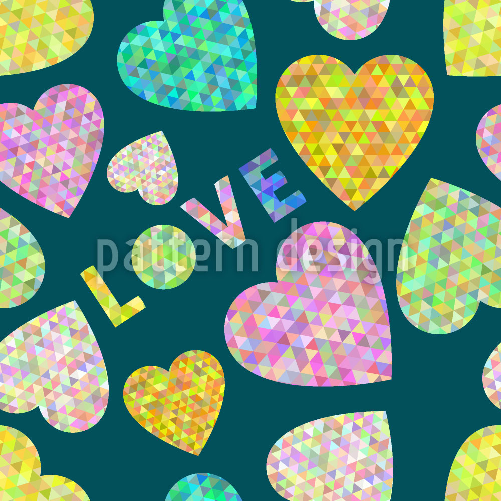 Designtapete Herz Und Liebe