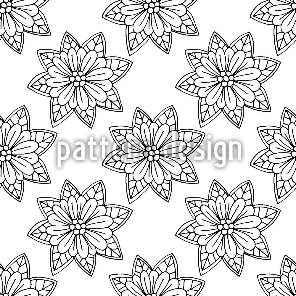 Designtapete Blumen Von Oben