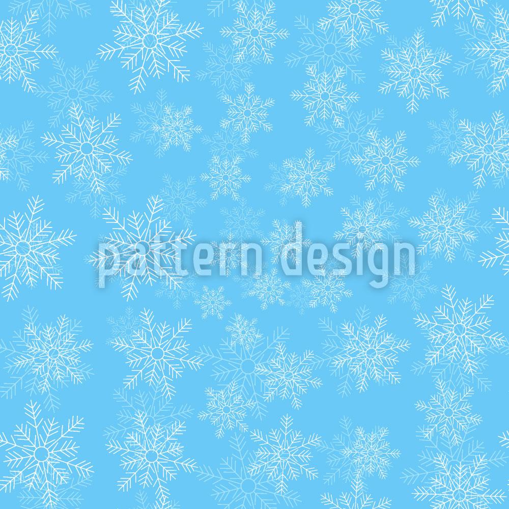 Designtapete Zarte Schneeflocken