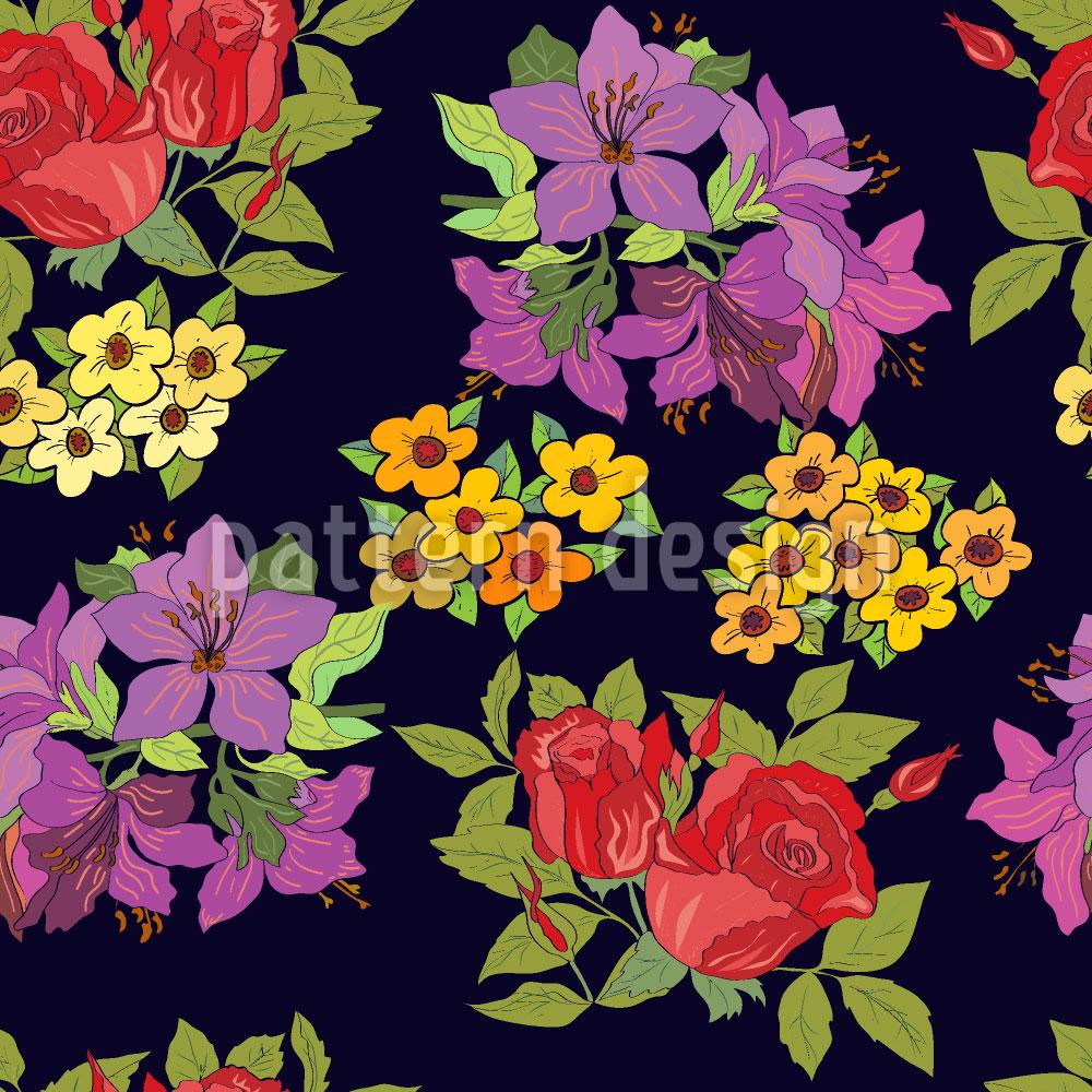 Designtapete Wähle Eine Blume