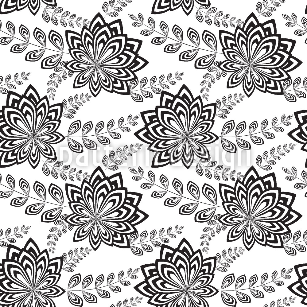 Designtapete Moderne Blumen