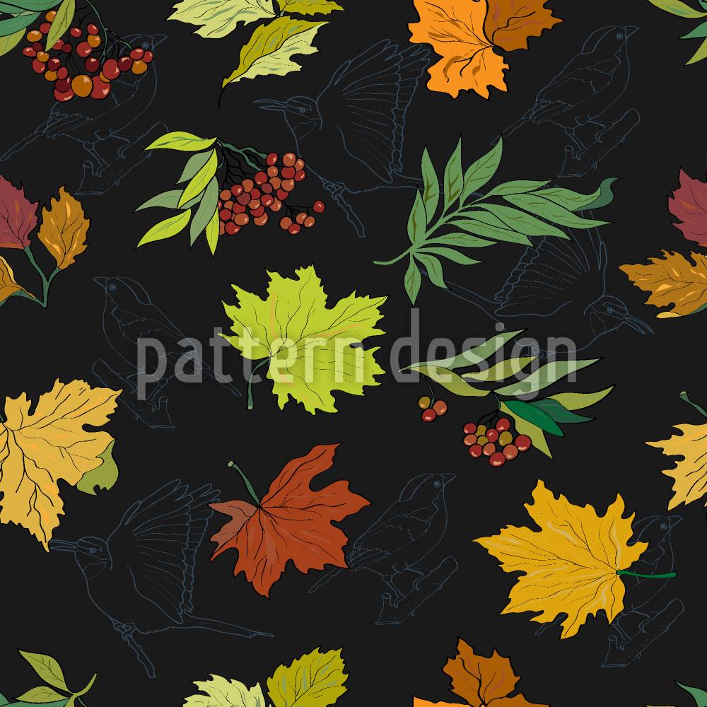 Designtapete Mitternachts Blätter