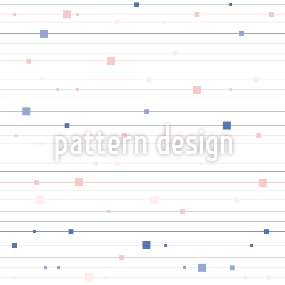 Designtapete Streifen und Quadrate