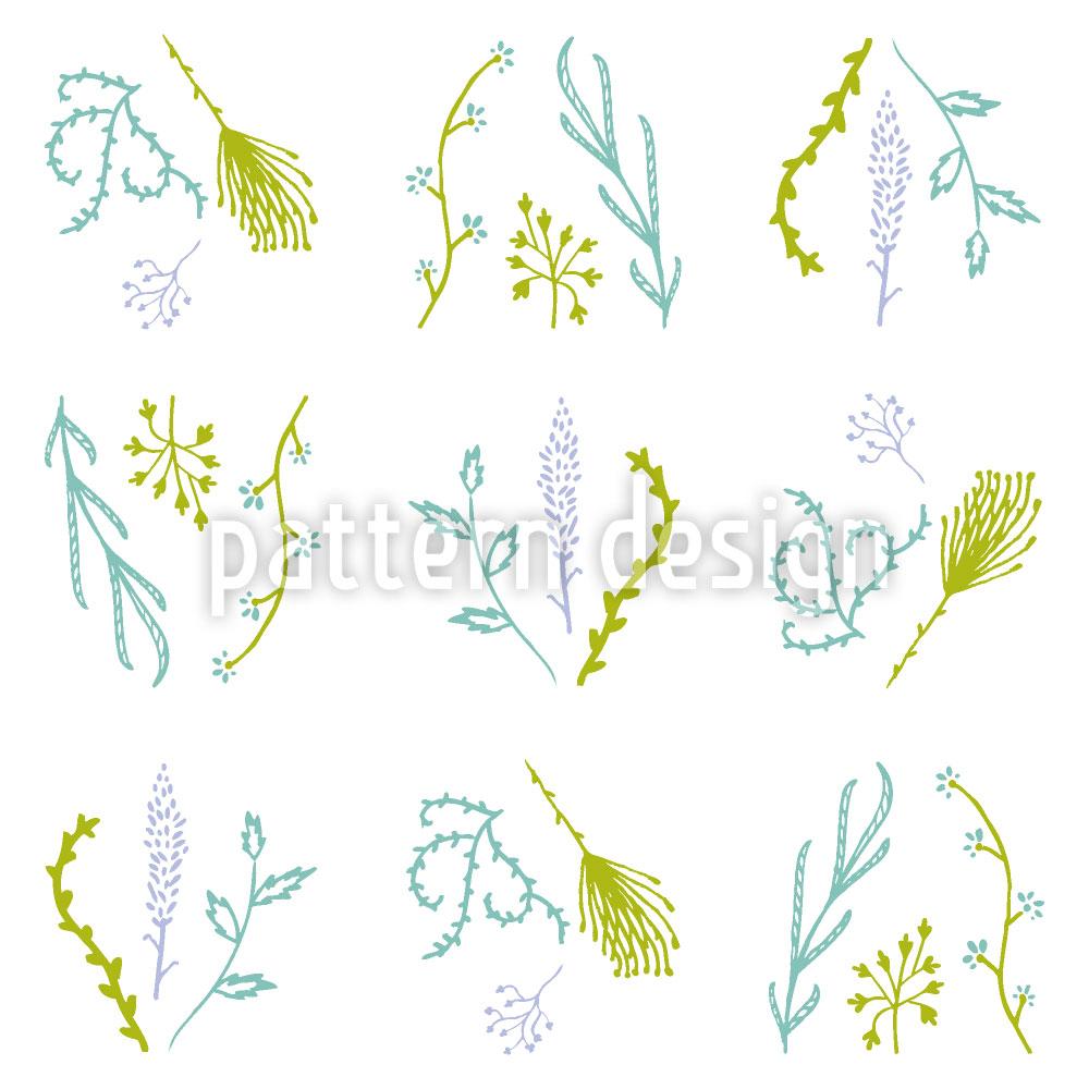 Designtapete Lavendel Dill