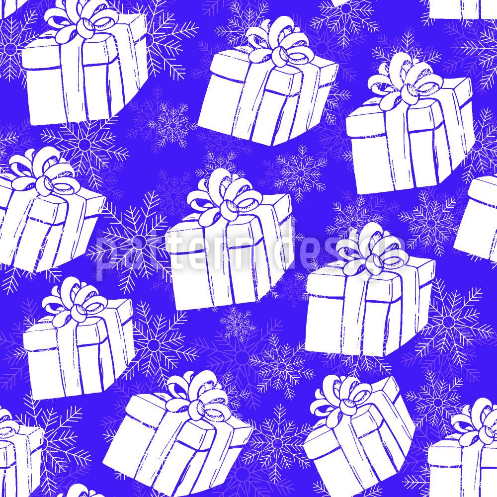 Designtapete Winter Geschenkschachteln