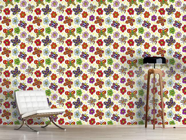 Designtapete Blumenfreunde