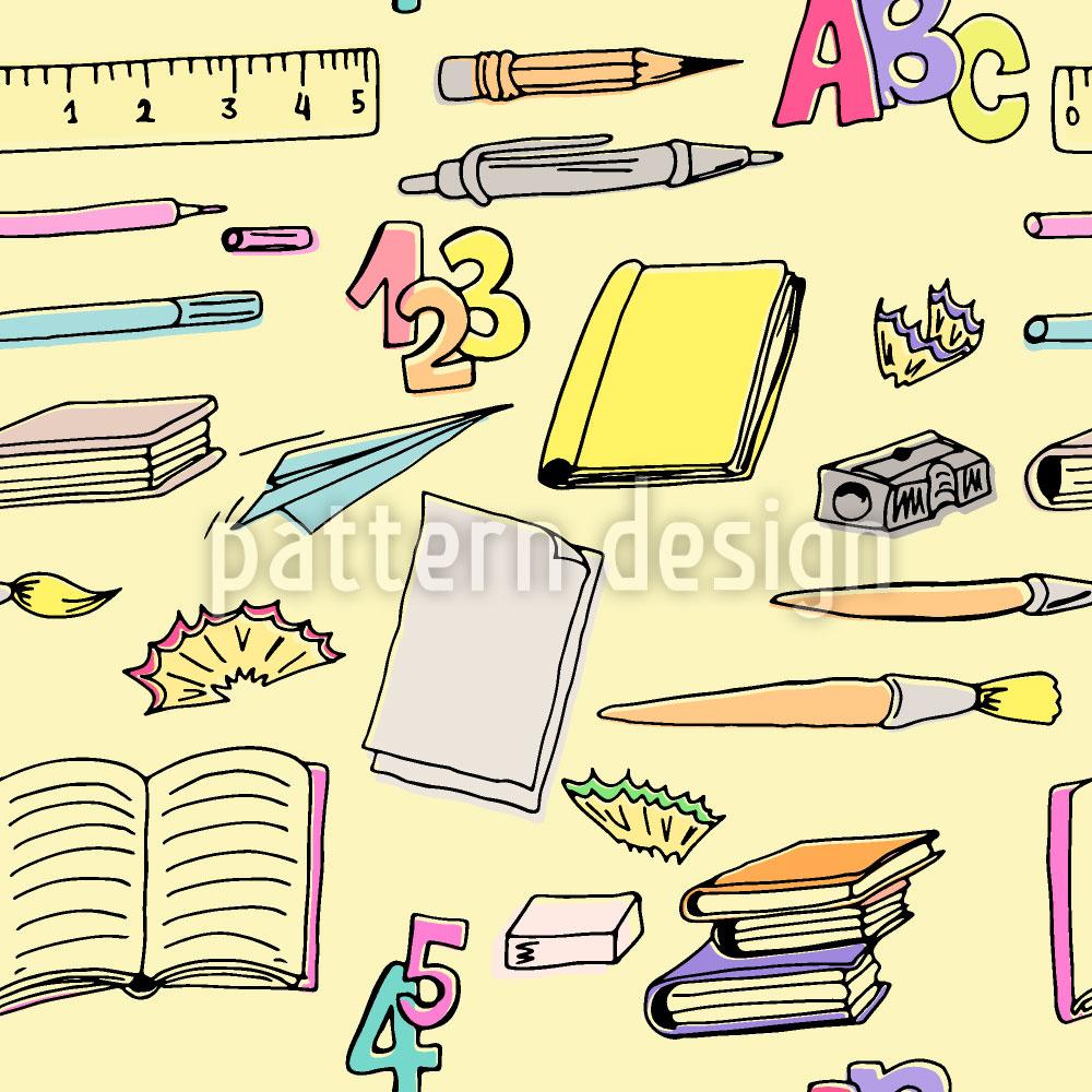 Designtapete Schulbedarf