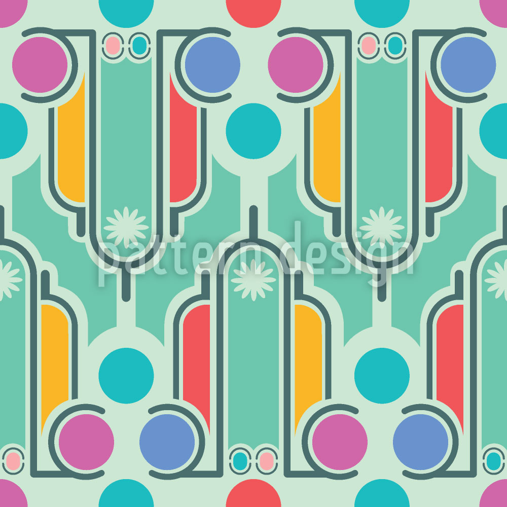 Designtapete Art Deco Spass