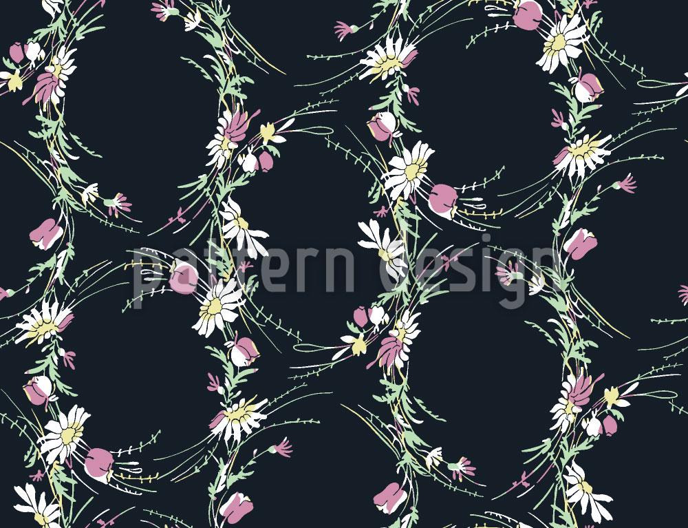 Designtapete Vintage Wildblumen