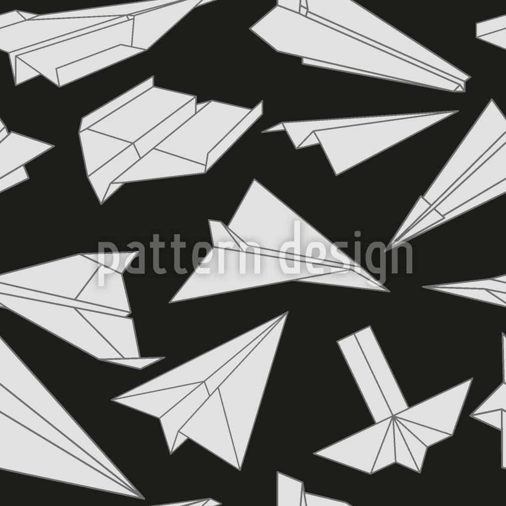 Designtapete Papierflieger In Aktion