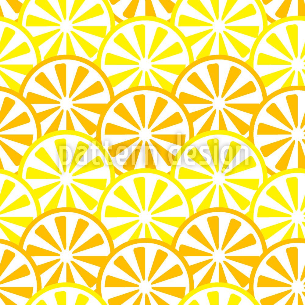Designtapete Zitronen und Orangen Scheiben