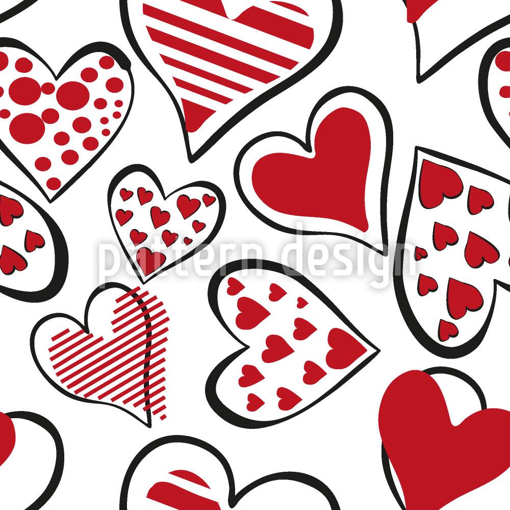 Designtapete Das Herz Ausschütten