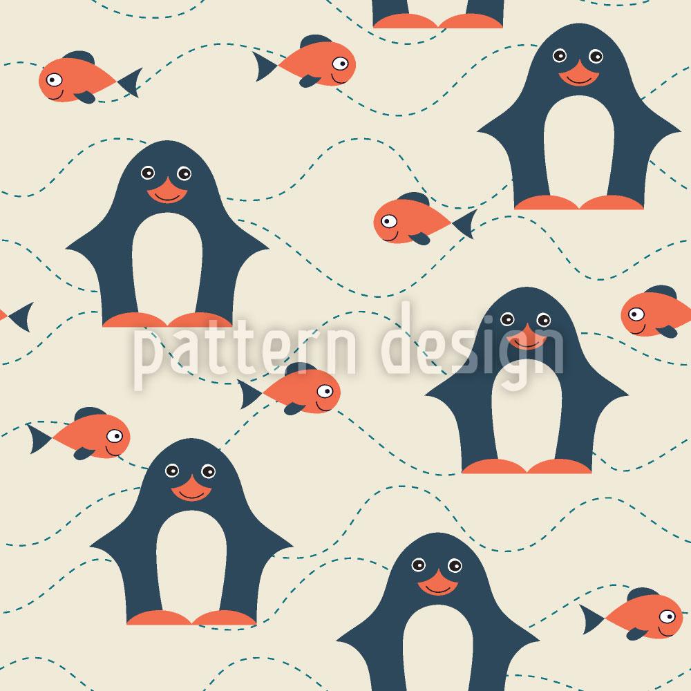 Designtapete Glücklicher Pinguin