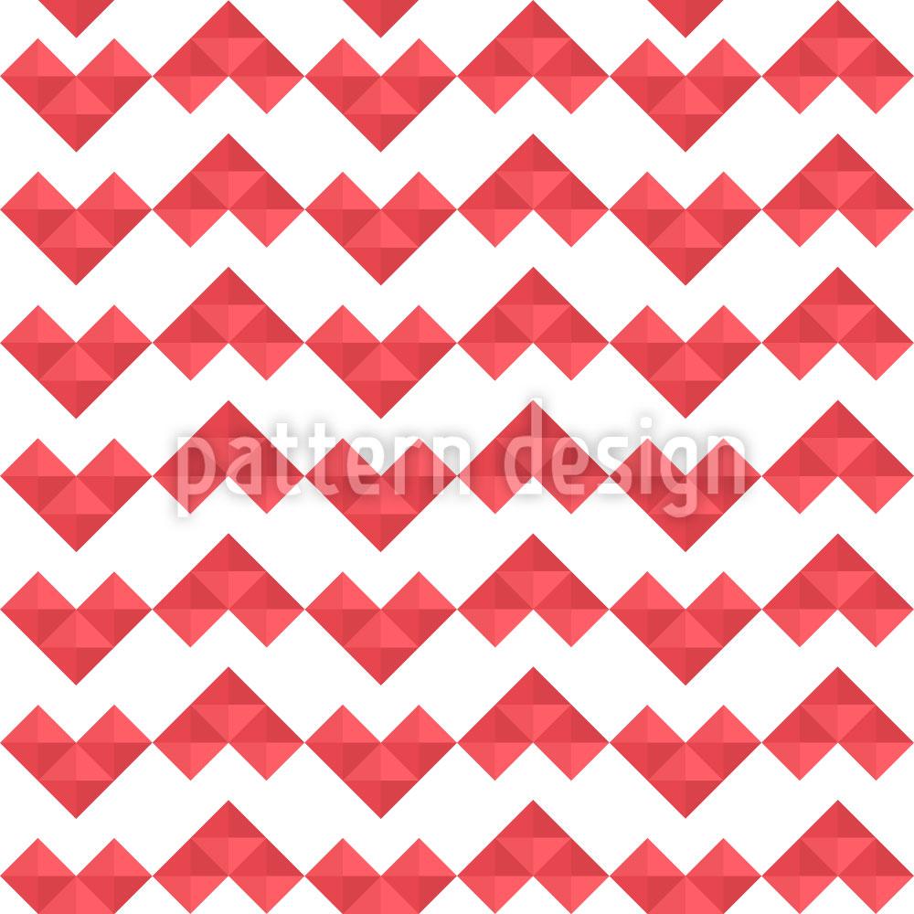 Designtapete Pixel Herz