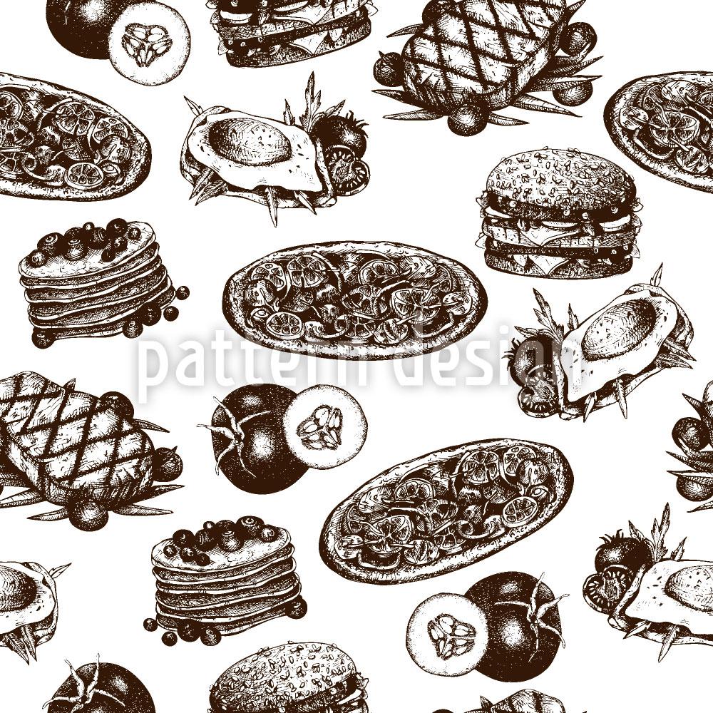 Designtapete Leckeres Essen
