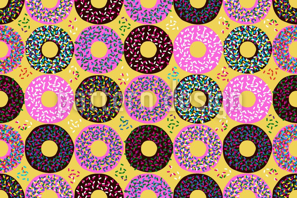 Designtapete Donuts Mit Streusel