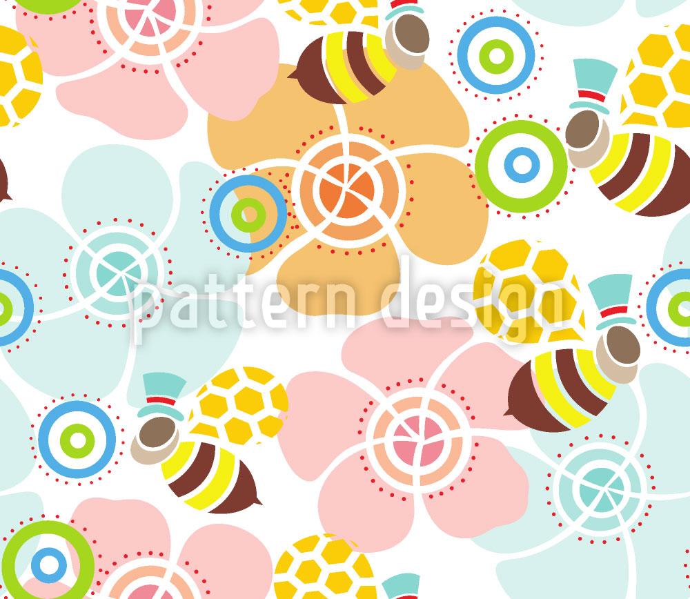 Designtapete Eine Bienen-Sicht der Welt