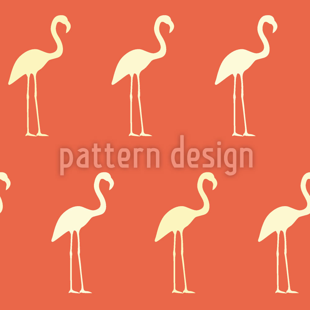 Designtapete Abendrot Flamingo