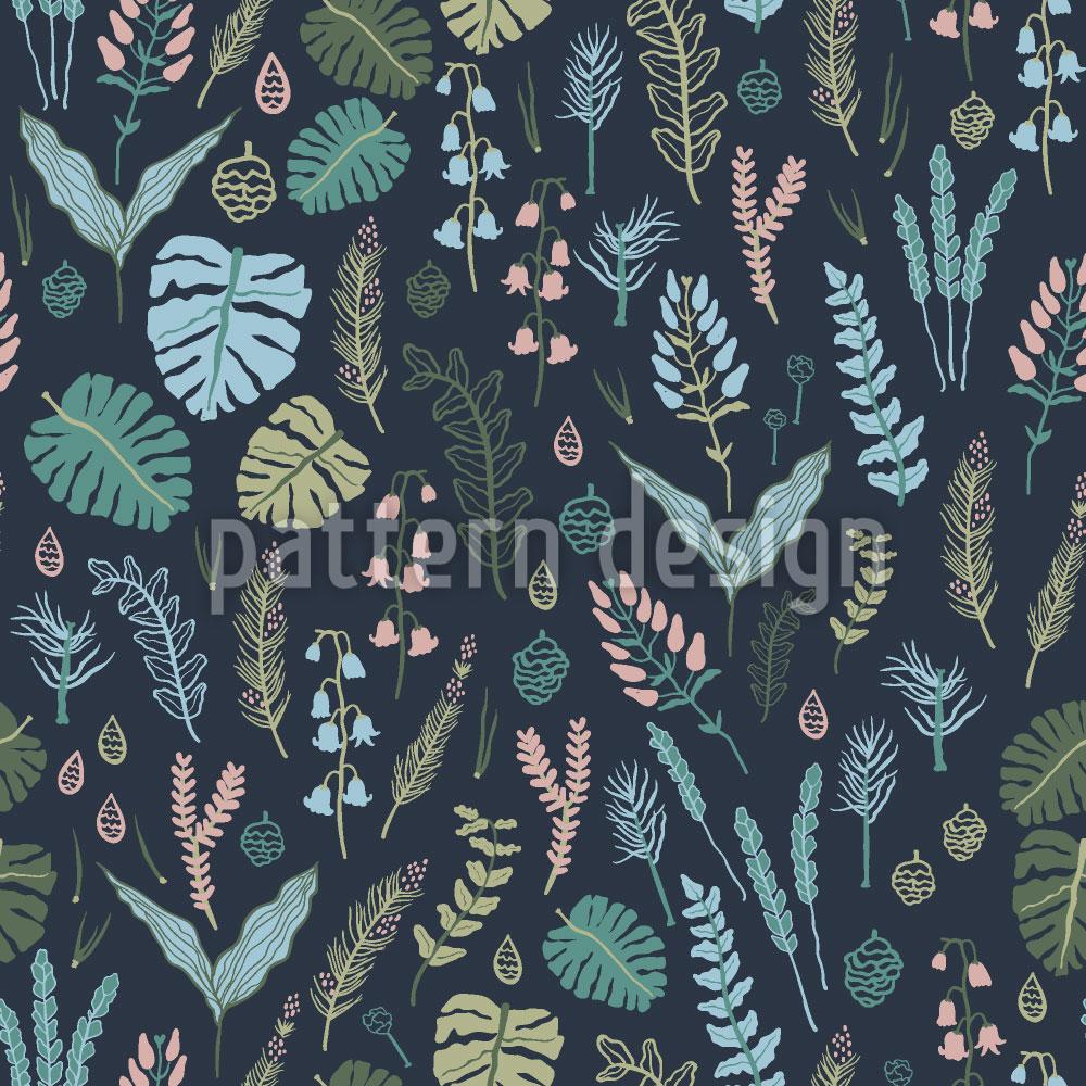 Designtapete Nächtlicher Wald