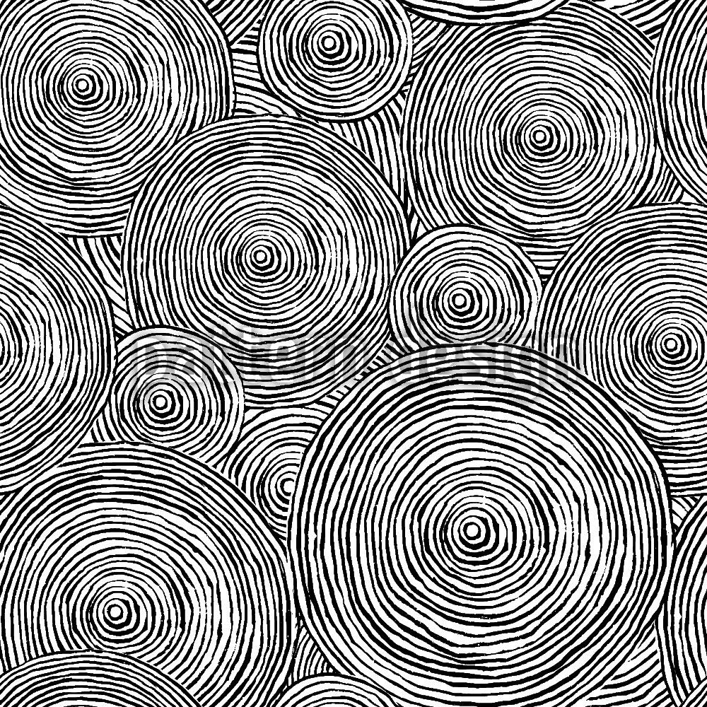 Designtapete Grobe Kreise