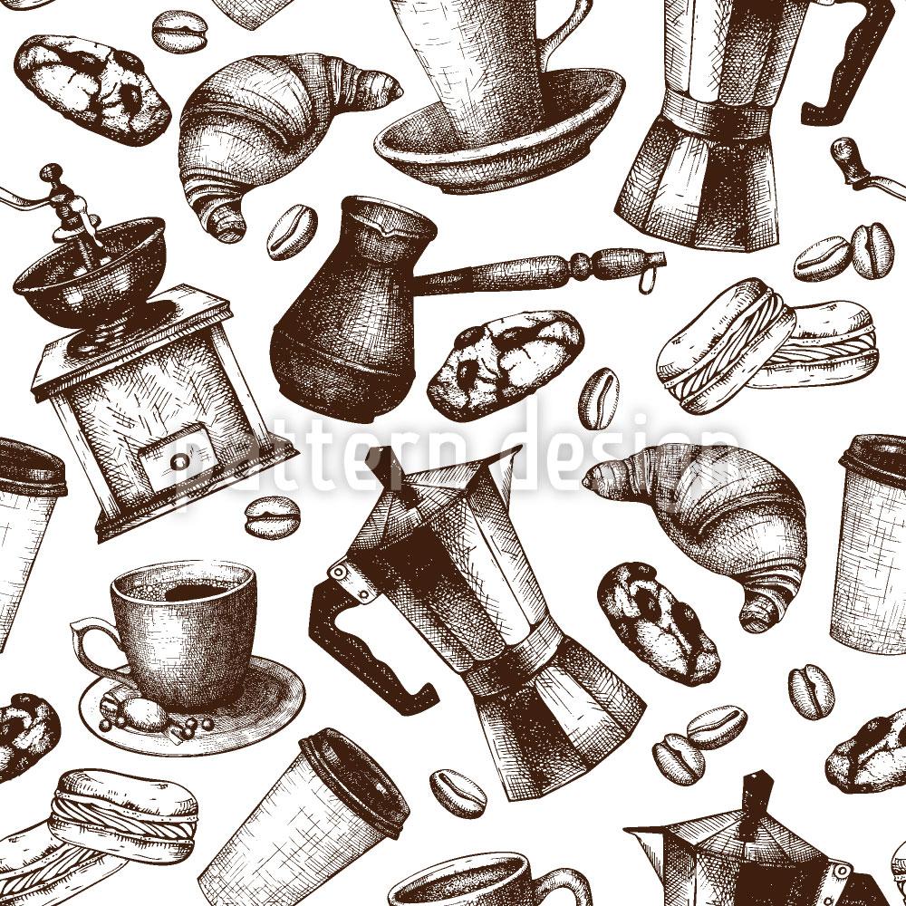 Designtapete Vintage Kaffee