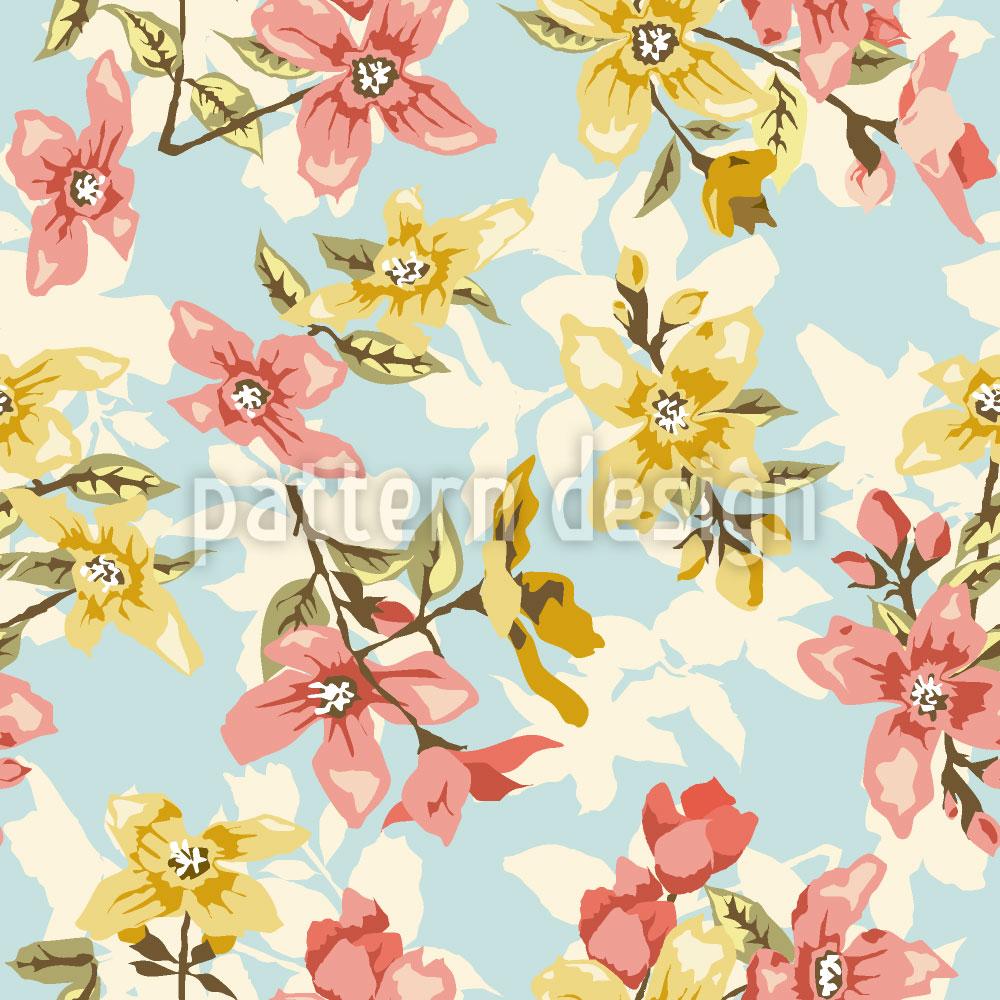 Designtapete Vintage Blüte