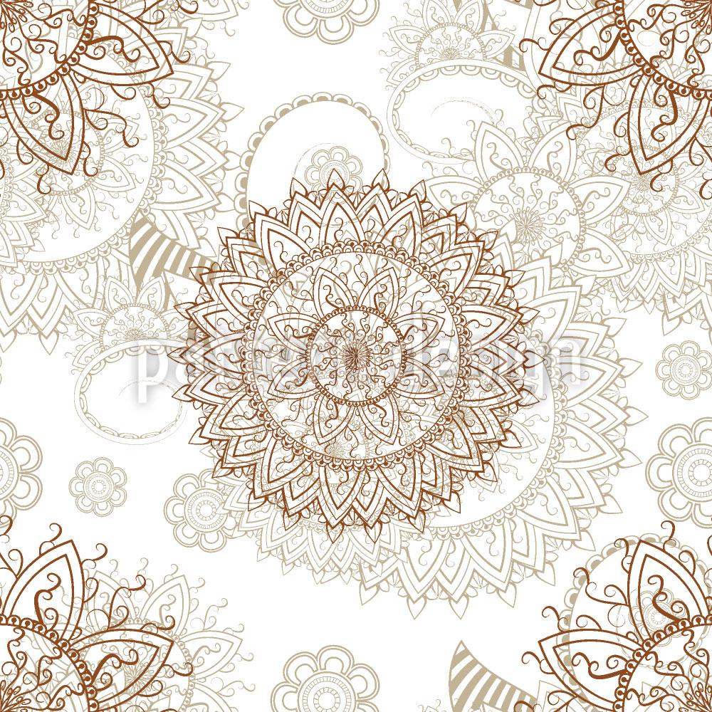 Designtapete Orientalisches Mandala