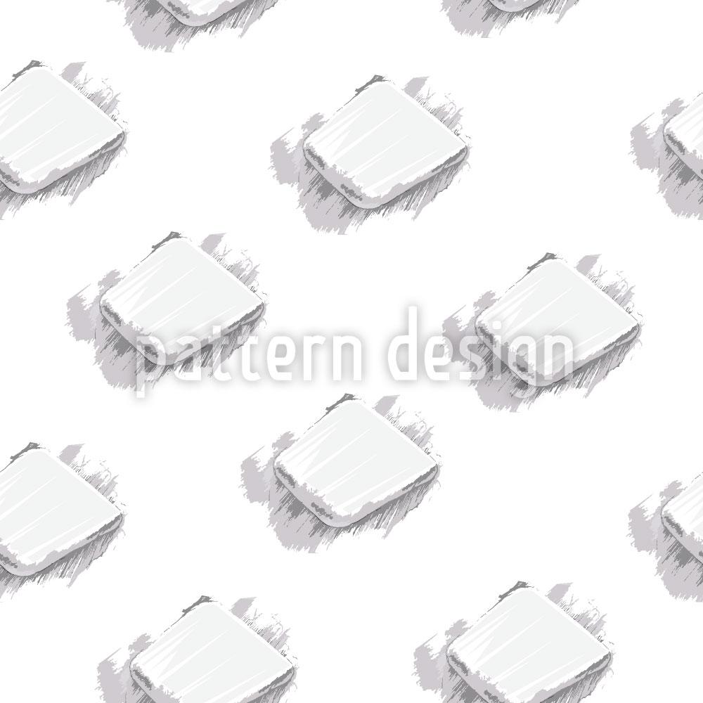 Designtapete Flacher Stein