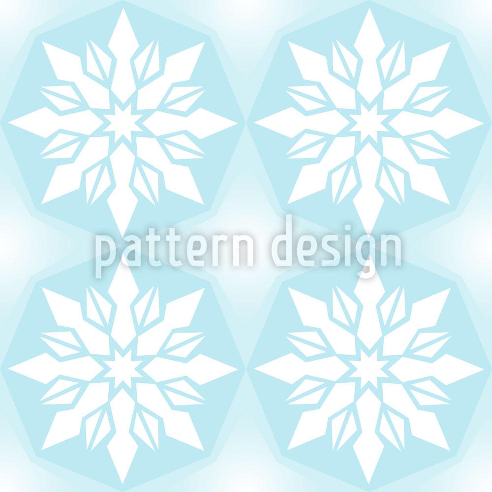 Designtapete Eiskristall Geometrie