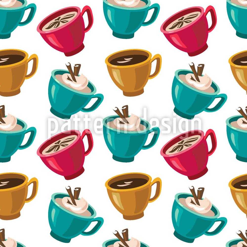 Designtapete Tasse Kaffee