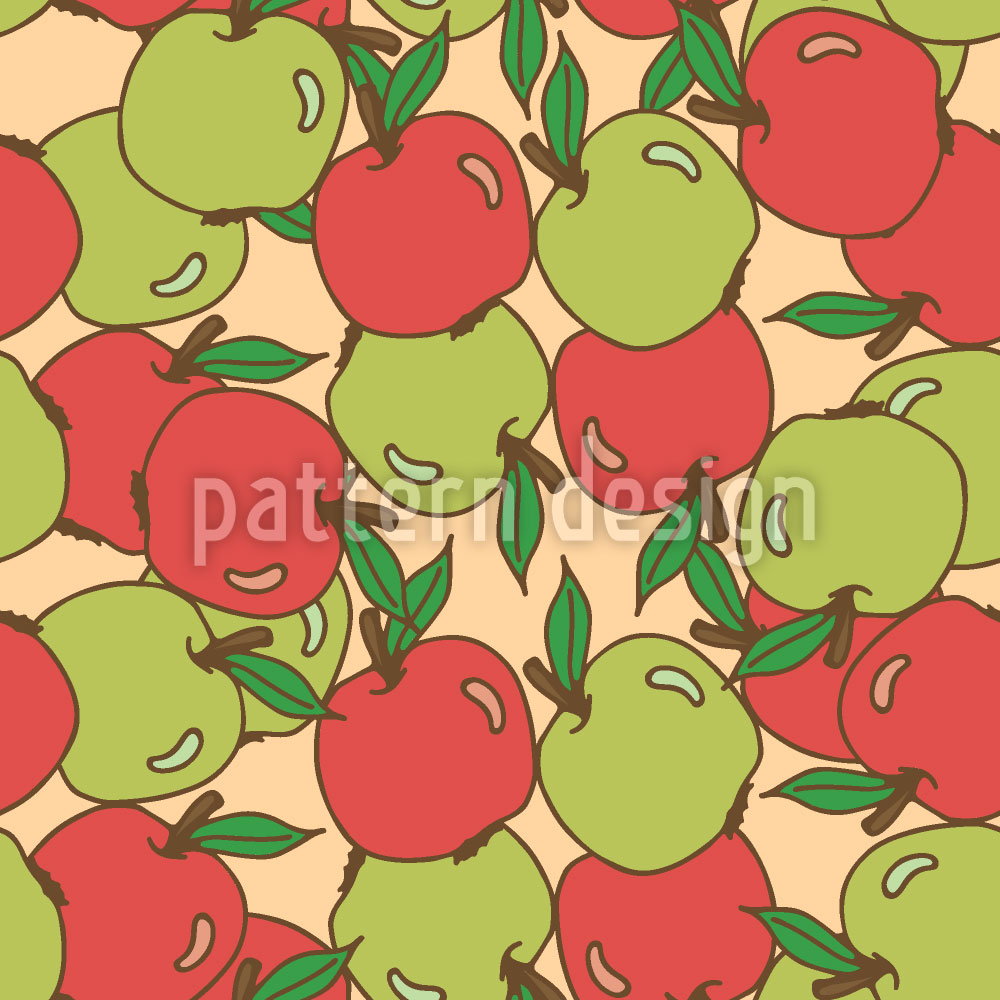Designtapete Gemischte Äpfel